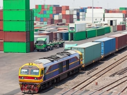 Rail container shipping